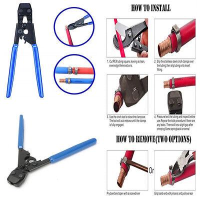 Pex Clamp Cinch Pinch Crimp Crimper Repair Tool For 38 To 1 St. Steel Clamps