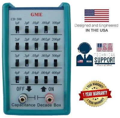 GME CD-300 Capacitance Substitution Decade Box 1-Yr USA Warranty 100pF~11,111uF