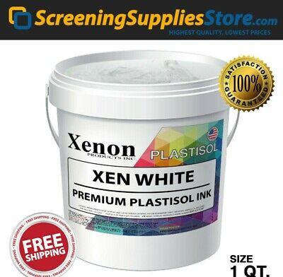 Xenon - Xen White Plastisol Ink For Silk Screen Printing - 1 Quart