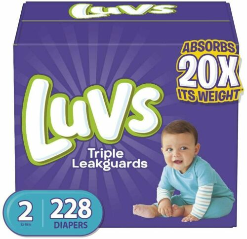 Diapers Size 2, 228 Count - Luvs Ultra Leakguards Disposable Baby Diapers