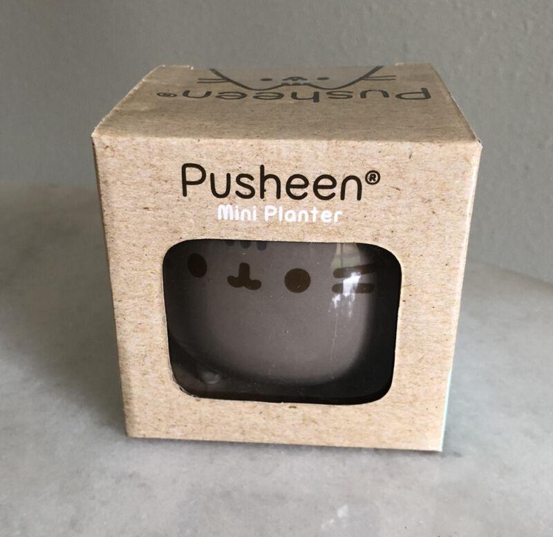 RARE MINT CONDITION GUND Pusheen Planter Ceramic Pot In Box - Pusheen Box 2016