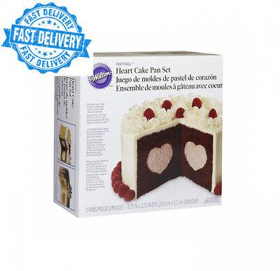Wilton Tasty-Fill Heart Cake Tin Set, 2-Piece, Heart-Shaped Filling Set