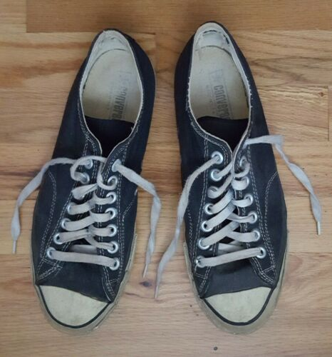 Vintage 1960's Chuck Taylor Converse All Stars Black Label Basketball Sneakers