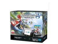 Nintendo Wii U Mario Kart 8 32GB Black Handheld System with 4 games