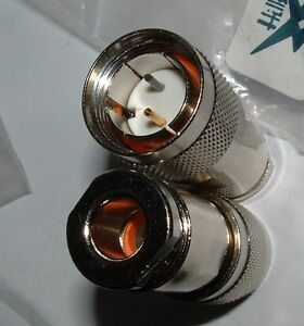 4-x-Twinax-Assiale-Doppio-Lineare-Spina-a-saldare-con-LETTI-singoli-assiale