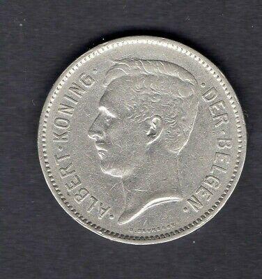 BELGIQUE  ALBERT I 1933 EEN BELGA - 5 FRANK