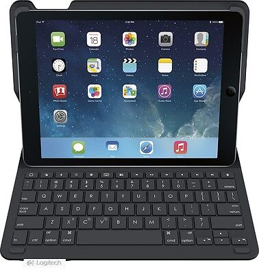 Logitech Type+ Protective Wireless Keyboard Folio Cover Case iPad Air - Black