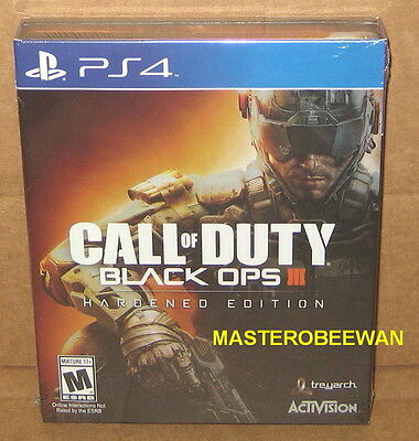 PS4 Call Of Duty Black Ops III 3 Hardened Print run Gamestop Exclusive New Sealed