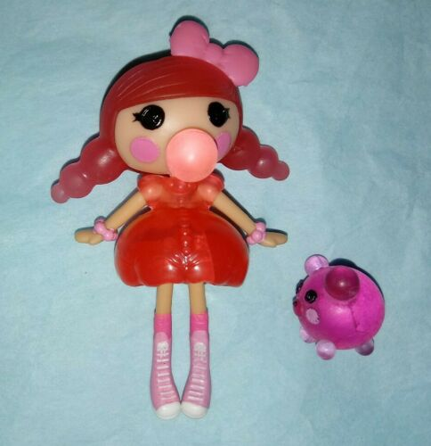 Bubbles Smack N Pop Mini Bubblegum Lalaloopsy Doll With Pet Bear - $3.99