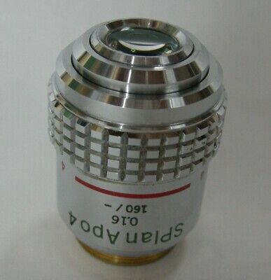 Olympus Splan Apo 4 0.16 160- For Bh2 Microscope Objective Fs