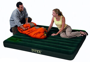 NEW Intex Single Double Inflatable Guest Camping Air Bed Mattress Built In Pump