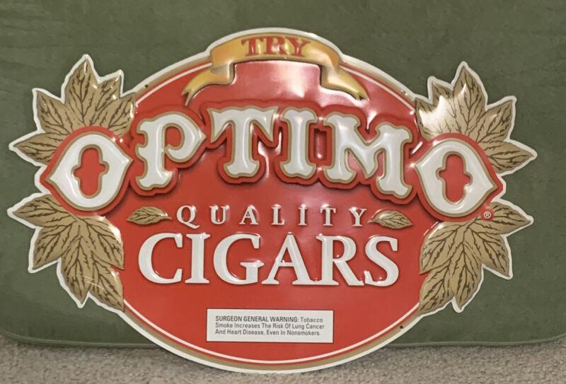 OPTIMO CIGARS METAL SIGN 18x12 Tin Sign Bar Man Cave Quality Cigars