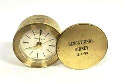 Tiffany & Co. | Swiss Quartz | Swivel Travel Desk Alarm Clock | Brass | Rare