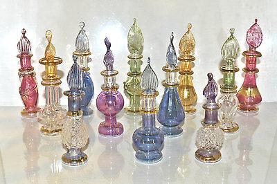 Lot Of 12 Tiny Egyptian Handmade Perfume Bottle Wedding Gift