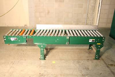Alvey Steel Roller Conveyor 85 X 15 Roller Surface Interroll Powered Rollers