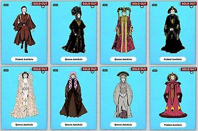 Topps Star Wars Card Trader Blue Classic Art Padme Amidala Set w/ Award