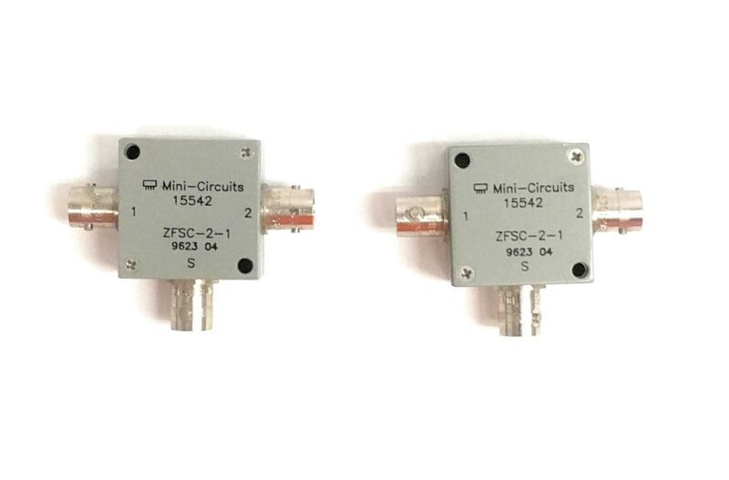 Lot of 2 Mini-Circuits ZFSC-2-1 5-500MHz 50ohm 2-Way Coaxial Power Splitter BNC