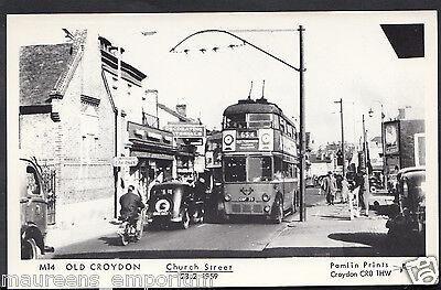 Surrey Postcard - Old Croydon - Animated Church Street in 1959 - S650