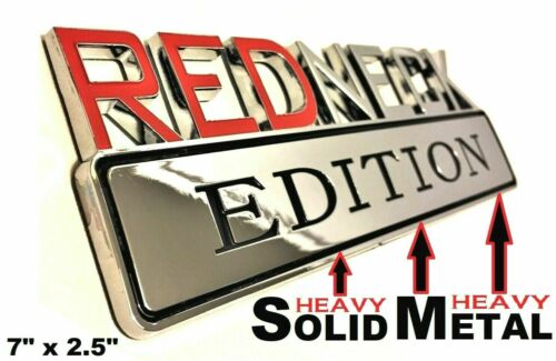 METAL Redneck Edition Emblem HIGHEST QUALITY ON EBAY Ford Bumper Decal Badge