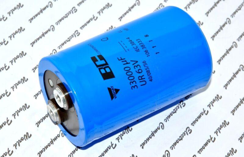 1pcs-Vishay BCcomponents 106 33000uF 63V  Screw Terminal Capacitor-222210638333