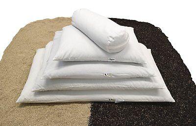 Wheat Dreamz Buckwheat or Millet Hull Pillow - Zippered - ORGANIC Made in USA Buckwheat Hull Standard Pillow