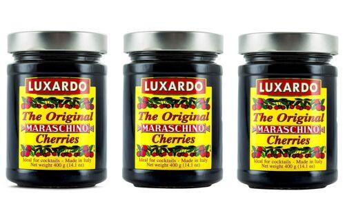 Luxardo Gourmet Maraschino Cherries - 400g Jar - 3 Pack