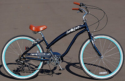 "Fito Modena II Alloy 7-speed - Midnight Blue, Women's 26"" Beach Cruiser Bike"