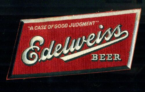 1940s Edelweiss Beer A Case Of Good Judgment Chicago Illinois Jacket Patch nos