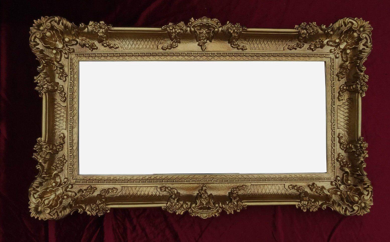 barock spiegel wandspiegel rechteckig antik badspiegel. Black Bedroom Furniture Sets. Home Design Ideas