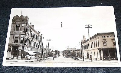 RPPC - Main Street, Court Street, Fergus Falls, Minnesota Vintage Postcard