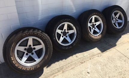 """Prostars HQ Hj Hx HZ WB 14""""x7"""" alloy mag wheels and tyres"""