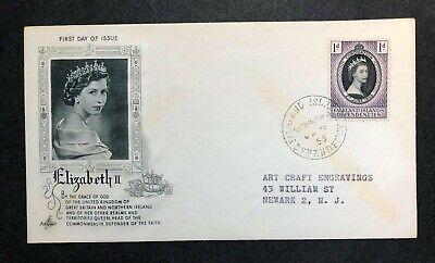 Falkland Islands Dependencies 1953 Coronation FDC First Day cover
