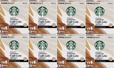 Starbucks Caramel Cafe Latte Specialty Coffee Beverage K Cup