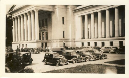 1936 ANTIQUE VINTAGE ORIGINAL CAR PHOTOGRAPH GOVERNMENT PARKING PHOTO TKAV105