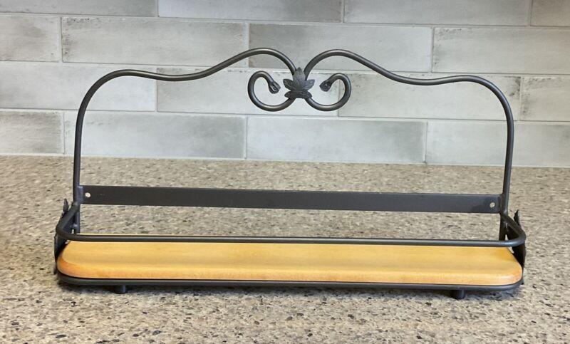 Longaberger Wrought Iron Spice Rack & Woodcrafts Shelf