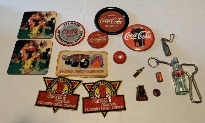 COCA-COLA Coke vintage rare  Embroidered  Patches And Pins Lot