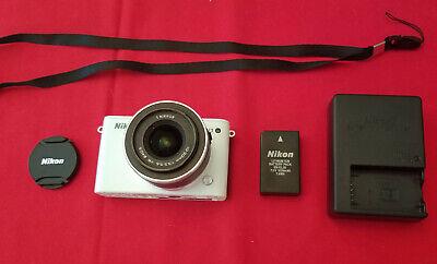 Nikon 1 J3 14.2MP Mirrorless Digital Camera White w/10-30mm Lens - 842 Clicks