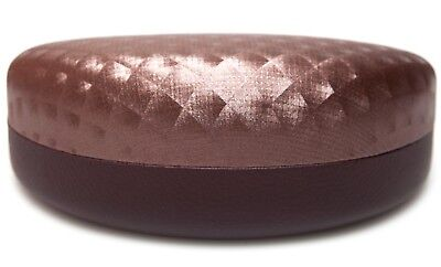 NEW Large Clam Shell Hard Brown Case for Sunglasses Eyeglasses w/ Cloth (Large Eyeglass Case)