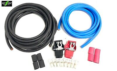 Military Style Battery Terminal 1 Awg Gauge Relocation Cable Wire Kit Pick Color