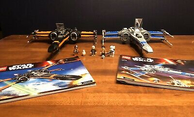 LEGO LOT Star Wars Poe's X-Wing Fighter 75102 & 75149 Resistance X-wing Fighter