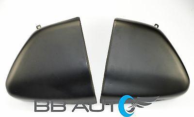 94-97 CHEVY S10 GMC SONOMA PICKUP FLEETSIDE REAR BUMPER ENDS CAPS SET BLACK NEW