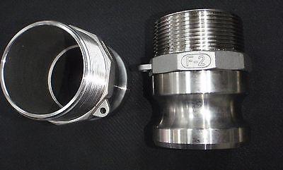 Stainless Steel Cam Lock Adapter 2 Male - 2 Npt Male Nipple Cl24-200