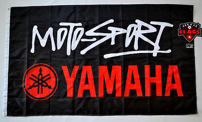 Yamaha Moto-Sport Flag Banner 3x5 ft Japanese Motorcycle Manufacturer Racing Blk for sale  Shipping to Canada