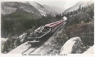 Canadian Pacific Rr Transcanada Limited Near Field B C  Photo Postcard 5183