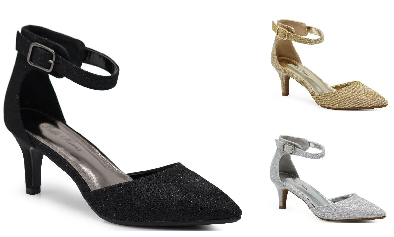 Women Pointy Heels Sexy Ankle Strap Sandals Ballet Pump Patent Harlow Shoes J7