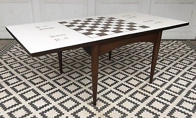 MCM vintage accent/chess/ coffee table mid century modern 1960s mcm Retro Cool