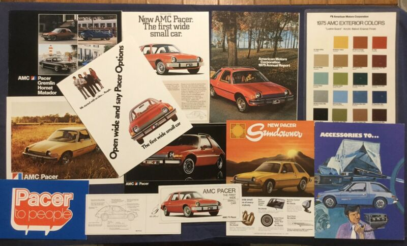 Rare 1st Year 1975 AMC Pacer Dealership Sales Brochure Catalog Collection Lot