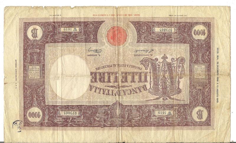 ITALY,1000 LIRE, , 1946