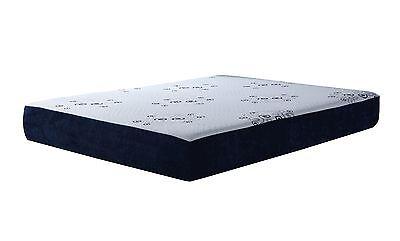 "10"" inch, 3 Layer reversible LATEX & MEMORY FOAM MATTRESS, w/Bamboo - Queen Size"