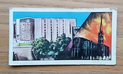 THEN AND NOW - Tea Cards No.8 Coventry Cathedral